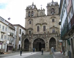 Braga Cathedral, Portugal, Bell towers view