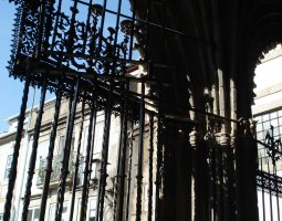 Braga Cathedral, Portugal, Iron gates from iterior