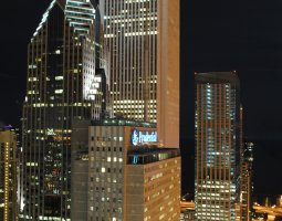 Chicago, USA, Prudential Plaza at night