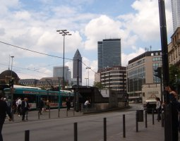 Frankfurt Architecture, Germany, Tram station