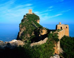 Great Wall of China, China, Vegetations taking over