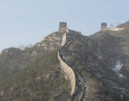 Great Wall of China, China, Cloudy day