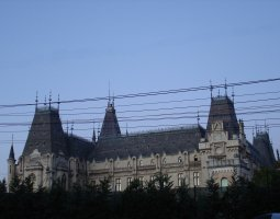 Iasi architecture, Romania, Palace of Culture side view