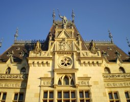 Iasi architecture, Romania, Palace of Culture facade