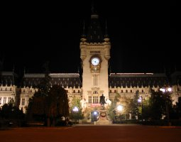 Iasi architecture, Romania, Palace of Culture by night