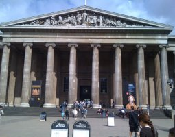 London Architecture, United Kingdom, British Museum entrance