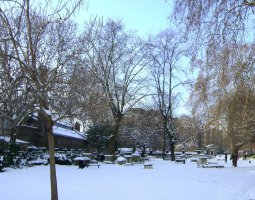 London Architecture, United Kingdom, St George Gardens, winter