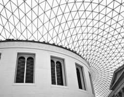 London Architecture, United Kingdom, British Museum, Dom detail