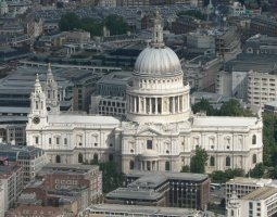 London Architecture, United Kingdom, St Paul Church aerial view