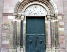 Mainz Cathedral, Germany, Side door
