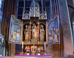 Mainz Cathedral, Germany, Altar view
