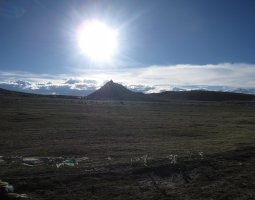 Mount Kailash, Tibet, Sunbath over the mountain