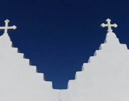 Mykonos, Greece, Church facade (3)