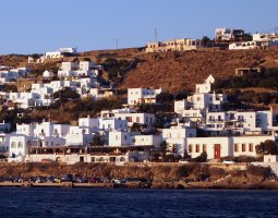 Mykonos, Greece, City panorama