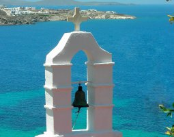 Mykonos, Greece, Church bell tower