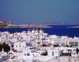 Mykonos, Greece, Houses skyline