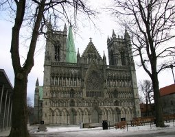 Nidaros Cathedral, Trondheim, Norway, Winter time