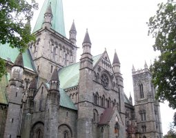 Nidaros Cathedral, Trondheim, Norway, Side view