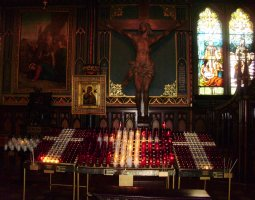 Notre Dame Basilica, Montreal, Canada, Candle area