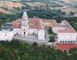 Pannonhalma Archabbey, Hungary, Europe, Aerial view
