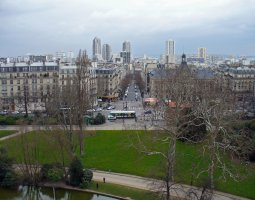 Paris Architecture, France, Buttes Chaumont view from above