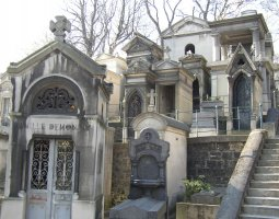Paris Architecture, France, Tomb on Pere Lachaise Cemetery