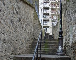 Paris Architecture, France, Stairs in Belleville