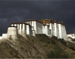 Potala Palace, Tibet, China, Storm coming