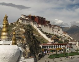 Potala Palace, Tibet, China, Panorama