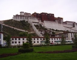 Potala Palace, Tibet, China, Front view