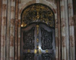 Saint Florian Abbey, Austria, Door architecture view