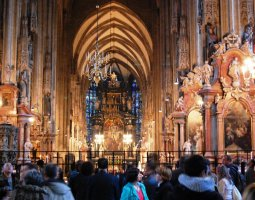 St Stephan Cathedral, Vienna, Austria, Interior visitors zone