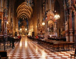 St Stephan Cathedral, Vienna, Austria, Interior nave view