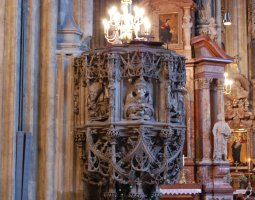 St Stephan Cathedral, Vienna, Austria, Hight altar view