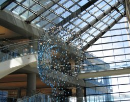 Salt Lake City, USA, Public Library lobby ornament