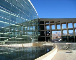 Salt Lake City, USA, Public Library exterior pool