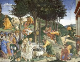 Sistine Chapel, Vatican, Botticelli fresco, The trials of Moses