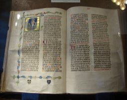 Strahov Monastery, Prague, Czech Republic, An old book with Jesus