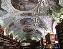 Strahov Monastery, Prague, Czech Republic, Wel preserved book stacks