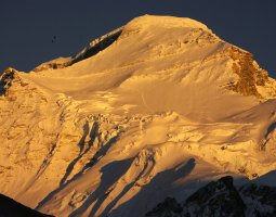Tallest Mountains, Cho Oyu, Himalayas, Peak side at dusk