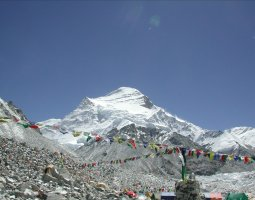 Tallest Mountains, Cho Oyu, Himalayas, View from a basecamp