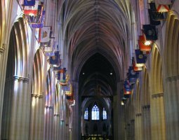 National Cathedral, Washington, U.S.A., Main Chapel and Flags