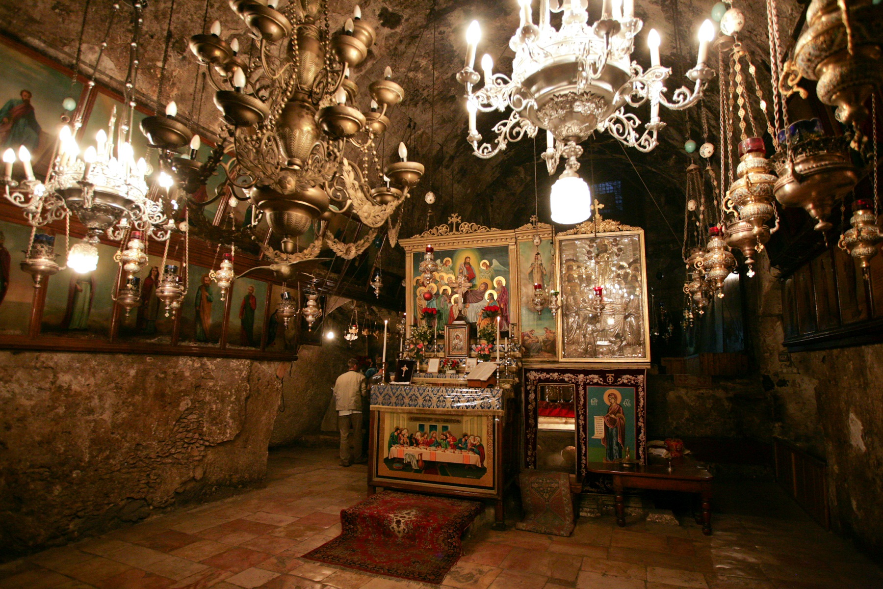 Tomb of the Virgin Mary, Jerusalem, Israel, Altar overview