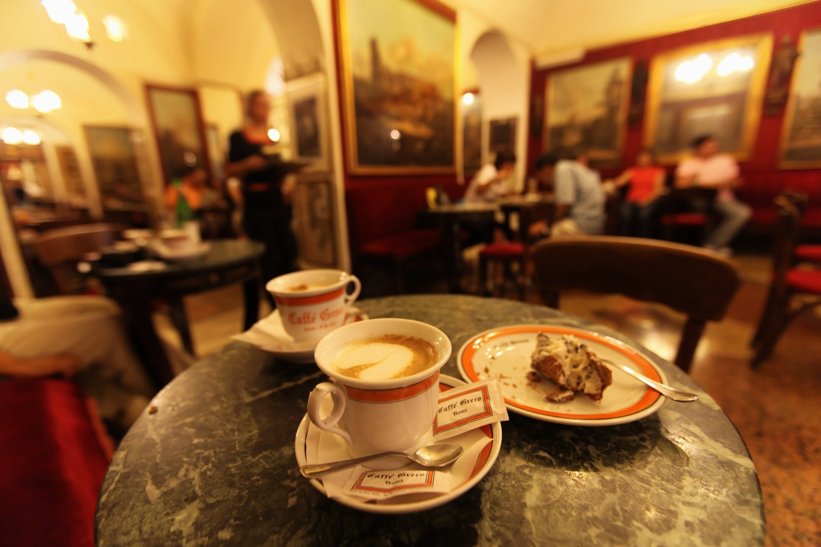 Best Cafe Holiday Rome Italy Caffe Grecco Coffee Cups