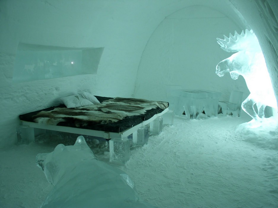 Ice Hotel Holiday Quebec Canada De Glace Room View