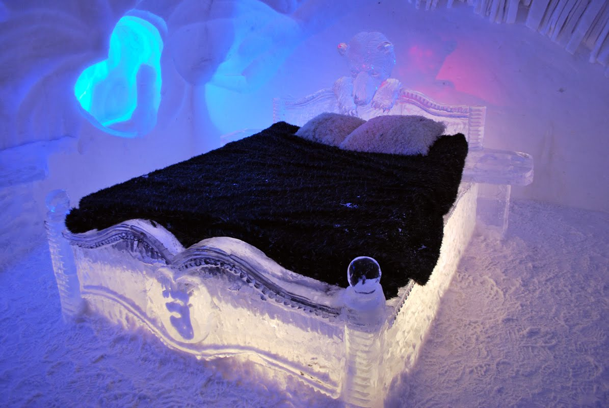 Ice Hotel Holiday Quebec Canada De Glace Bed Room