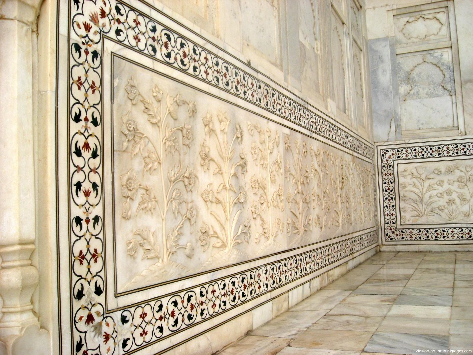 Taj Mahal India Wall Detail 617 World All Details