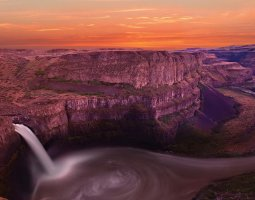 Grand Canyon, U.S.A, Waterfall overview