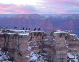 Grand Canyon, U.S.A, People on rim