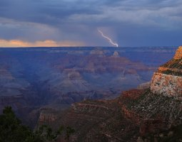 Grand Canyon, U.S.A, Thunderstorm